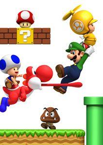 mario bros wii mushroom house world 1