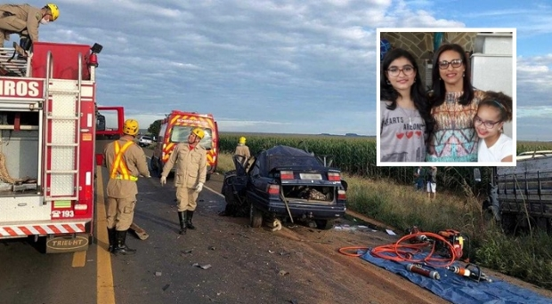 Servidora pública e duas filhas morrem em grave acidente na BR-364