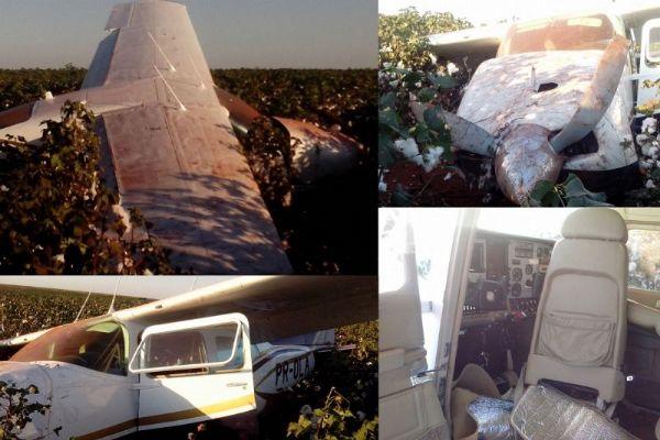 Aeronave é encontrada no meio de plantação de algodão; suspeita de uso para o tráfico